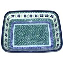 "Polish Pottery DEAREST FRIEND 12"" Rectangle Stoneware Baker 