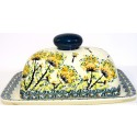 Polish Pottery DRAGONFLY Covered Butter Dish | ARTISAN