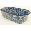 Polish Pottery 5 Cup BLUE LAGOON Stoneware Loaf Pan | UNIKAT