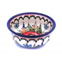 Polish Pottery BUTTERFLY MERRY MAKING Small Stoneware Bowl | UNIKAT
