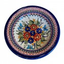 "Polish Pottery BUTTERFLY MERRY MAKING 9.5"" Soup-Pasta-Salad Stoneware Plate 