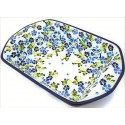 Polish Pottery TRUE BLUES 14 Stoneware Baker |ARTISAN
