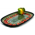 "Polish Pottery PASSION 15"" Stoneware Platter | UNIKAT"
