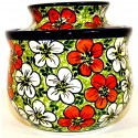 Polish Pottery RED BACOPA Butter Bell Stoneware Crock | UNIKAT