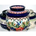Polish Pottery BUTTERFLY MERRY MAKING Butter Bell Stoneware Crock | UNIKAT
