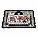 Polish Pottery LOVE BLOSSOMS Fancy Stoneware Butter Dish | EX UNIKAT