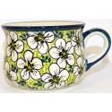 Polish Pottery BACOPA 6.7-oz Stoneware Cup & Saucer Set | UNIKAT