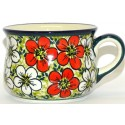 Pottery Avenue 6.7 oz RED BACOPA Cup And Saucer Set | UNIKAT