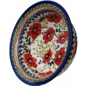 POLISH POTTERY LOVE BLOSSOMS FLARED TOP BOWL | EX UNIKAT