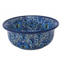 Polish Pottery BLUE LAGOON 17-oz Flared Top Stoneware Bowl | UNIKAT