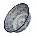 "Polish Pottery CELEBRATE 10"" Stoneware All Purpose Baker-Serving Bowl   ARTISAN"