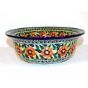 "Polish Pottery PASSION 10"" Serving Stoneware Bowl 