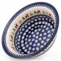 "Polish Pottery CARIBOU LODGE 10"" Stoneware All Purpose Baker-Serving Bowl 