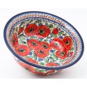 Polish Pottery BELLISSIMA 61-oz Flared Top Stoneware Bowl | EX-UNIKAT