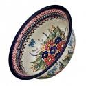 Polish Pottery BUTTERFLY MERRY MAKING 61-oz Flared Top Stoneware Bowl | UNIKAT