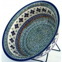 POLISH POTTERY STONEWARE FLARED SERVING BOWL | SWEETIE PIE