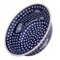 "Polish Pottery DOTTY FISH 10"" Stoneware All Purpose Baker-Serving Bowl | ARTISAN"