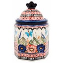 "Polish Pottery BUTTERFLY MERRY MAKING 7.5"" Imperial Stoneware Canister 