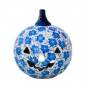 Polish Pottery BLUE HARMONY Stoneware Jack-O-Lantern   UNIKAT