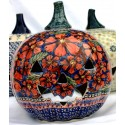 Polish Pottery CHERISHED FRIENDS Stoneware Jack-O-Lantern | UNIKAT