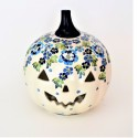 Polish Pottery TRUE BLUES Stoneware Jack-O-Lantern | ARTISAN