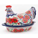Polish Pottery 1.5L BELLISSIMA Hen baked casserole | EX UNIKAT