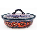 Polish Pottery CHERISHED FRIENDS 1.5-Liter Covered Stoneware Casserole | UNIKAT