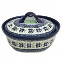 Polish Pottery DEAREST FRIEND 1.5L Covered Stoneware Casserole | ARTISANN
