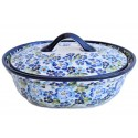Polish Pottery True Blues 1.5L Stoneware Baker | ARTISAN