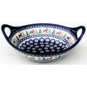 "Polish Pottery CARIBOU LODGE 10"" Handled Serving-Baker Stoneware Bowl 