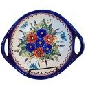 Polish Pottery BUTTERFLY MERRY MAKING 10 Handled Stoneware Bowl |UNIKAT