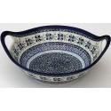 Polish Pottery DEAREST FRIEND 11.5-inch Handled Stoneware Salad-Baker Bowl | ARTISAN