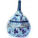 Polish Pottery FOR-ME-NOT Garlic Stoneware Container  | UNIKAT