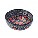 "Polish Pottery CHERISHED FRIENDS 4.5"" Rice Stoneware Bowl 