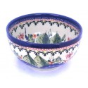"Polish Pottery STRAWBERRY BUTTERFLY 4.5"" Rice Stoneware Bowl 