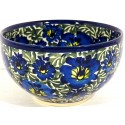 "Pottery Avenue 4.5"" BLUE LAGOON Small Stoneware Cereal Bowls 