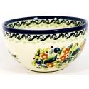 "Polish Pottery SEASONS 4.5"" Rice Stoneware Bowl | UNIKAT"