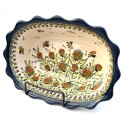 "Polish Pottery WISHFUL 9.6"" Fancy Rimmed Stoneware Soup Bowls 