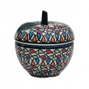 Polish Pottery COLOR ME LOVE 4-inch Tall Stoneware Apple Canister   ARTISAN