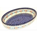 Polish Pottery HERITAGE 11-inch Oval Stoneware Baker | CLASSIC