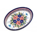 "Polish Pottery BUTTERFLY MERRYMAKING Small 11"" Oval Baker 