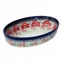 Polish Pottery CHAMPAGNE 11-inch Oval Stoneware Baker | UNIKAT