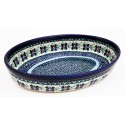 Polish Pottery DEAREST FRIEND 11-inch Stoneware Oval Baker | ARTISAN