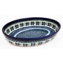 Polish Pottery DEAREST FRIEND 11-inch Stoneware Oval Baker | ARTISAN