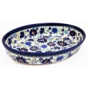 Polish Pottery 4TH OF JULY 11-inch Stoneware Oval Baker | ARTISAN
