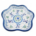 Polish Pottery SNOWMAN UNIKAT Stoneware Boho Bowl (LG)   A-UNIKAT
