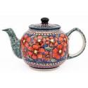 Polish Pottery CHERISHED FRIENDS 34-oz Stoneware Teapot | UNIKAT