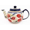 Polish Pottery LOVE BLOSSOM 34oz Teapot (MD)