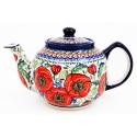 Polish Pottery BELLISSIMA 34-oz Stoneware Teapot (MD) | EX UNIKAT