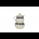 Polish Pottery TRENDY TIMES Stoneware Creamer & Sugar Set | CLASSIC